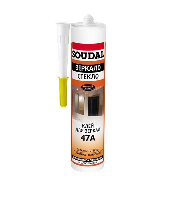 Жидкие гвозди для зеркал Soudal каучуковый 300 мл жидкие гвозди quality для панелей 100 мл