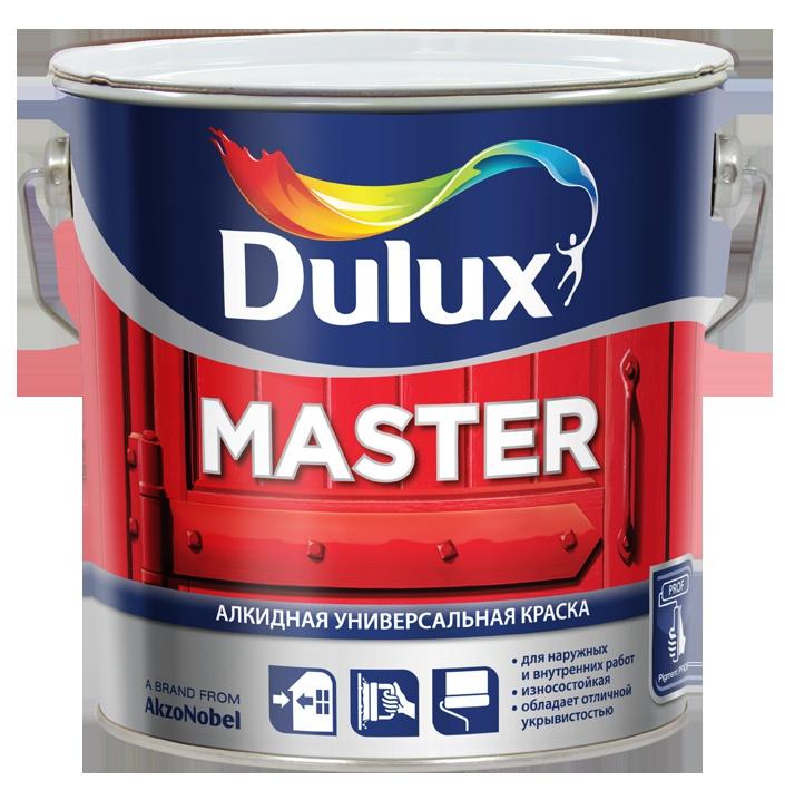 Эмаль алкидная Master 30 основа BW полуматовая Dulux 1 л