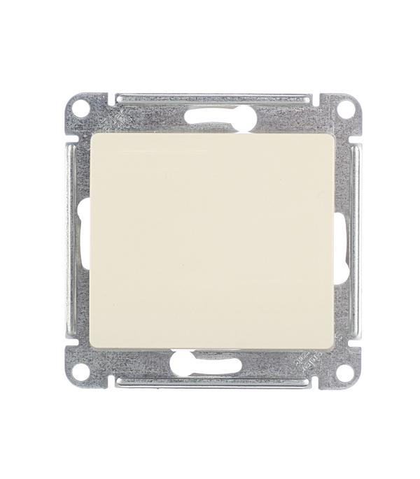Механизм выключателя одноклавишного Schneider Electric Glossa с/у бежевый механизм выключателя schneider electric glossa белый 1 клавишный gsl000111