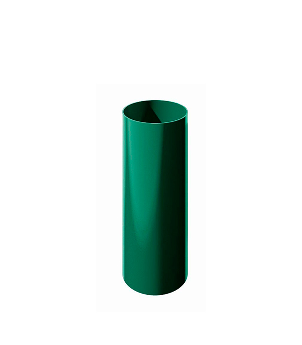 Труба водосточная пластиковая d90 мм зеленая 1,5 м Технониколь