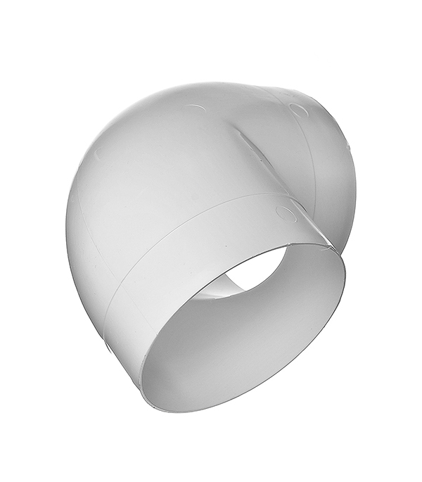 Колено для круглых воздуховодов пластиковое d125 мм, 90°