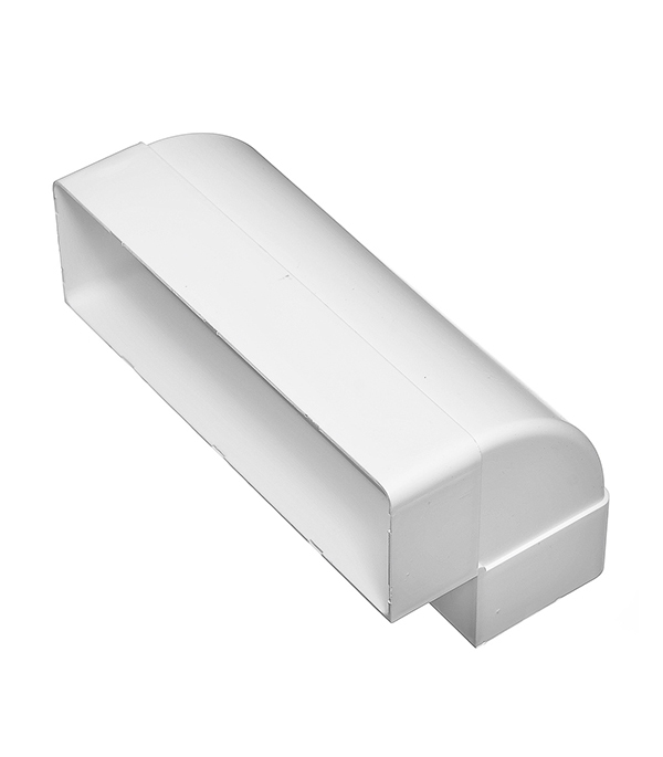 Колено для плоских воздуховодов вертикальное пластиковое 60х204 мм, 90°