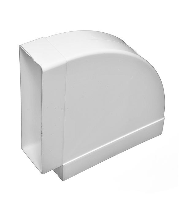 Колено для плоских воздуховодов горизонтальное пластиковое 60х204 мм, 90°