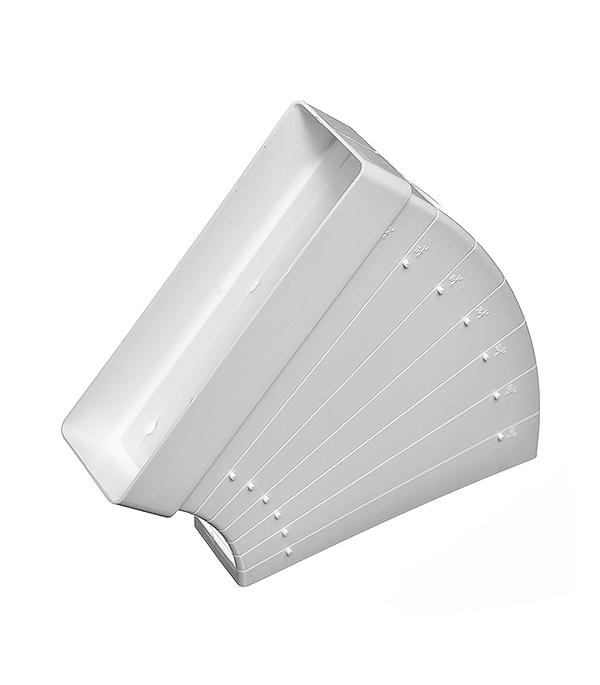 Колено для плоских воздуховодов горизонтальное пластиковое 60х204 мм, разноугловое