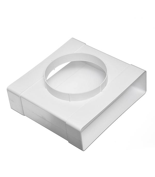 Соединитель Т-образный пластиковый для плоских воздуховодов 60х204 мм с анемостатами d125 мм