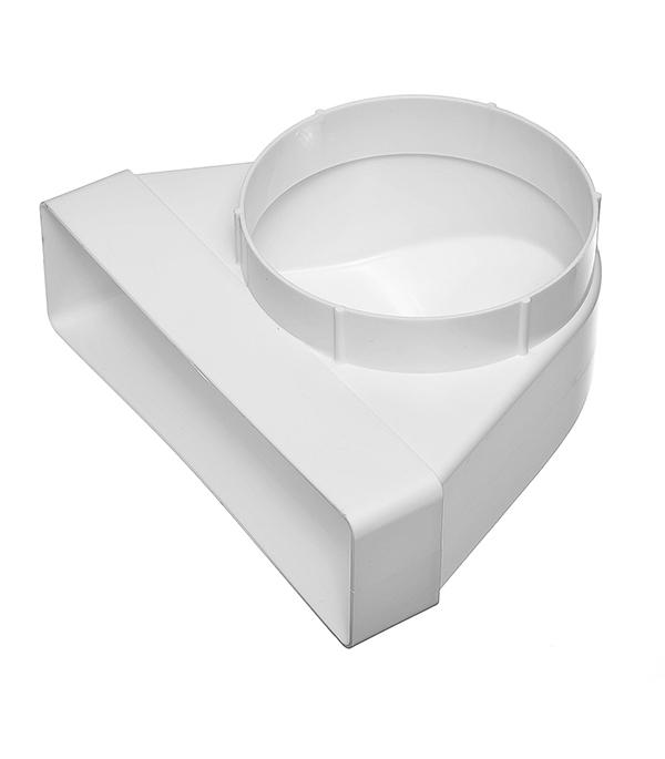 Соединитель угловой 90? пластиковый для плоских воздуховодов 60х204 мм с анемостатами d125 мм
