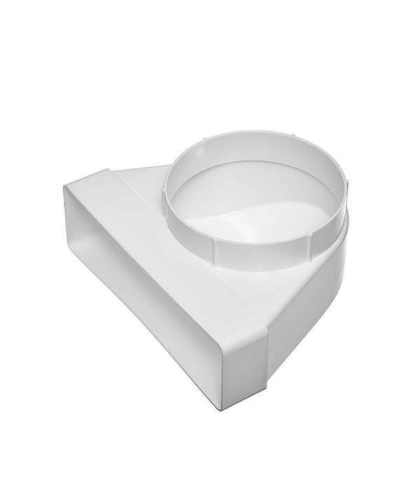 Соединитель угловой 90? пластиковый для плоских воздуховодов 60х204 мм с круглыми d125 мм