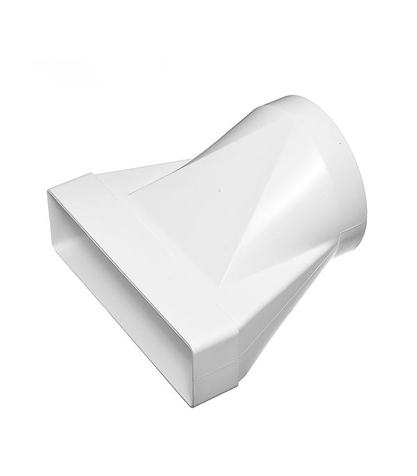Соединитель эксцентриковый пластиковый для плоских воздуховодов 60х204 мм с круглыми d125 мм