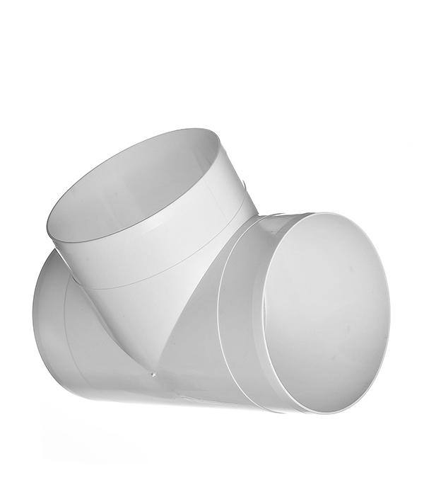 Тройник для круглых воздуховодов пластиковый d125 мм, 90°