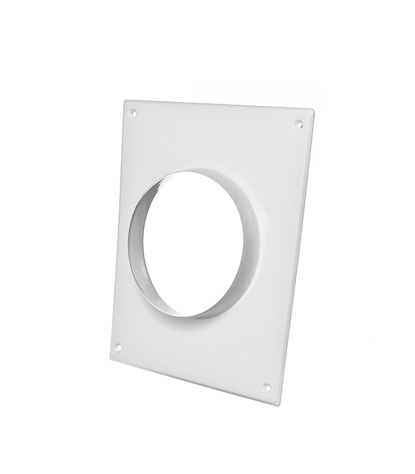 Соединитель для круглых воздуховодов стальной белый 196х236 мм с фланцем d125 мм