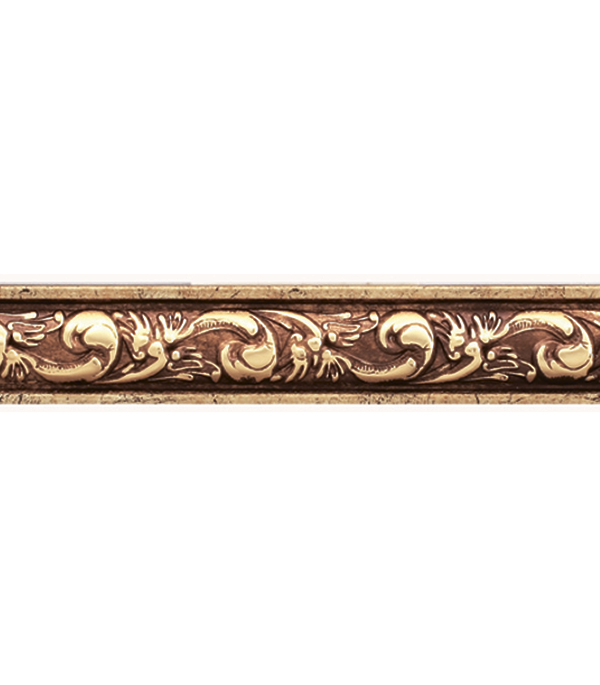 Плинтус (молдинг) 30х14х2400 мм Decomaster античное золото
