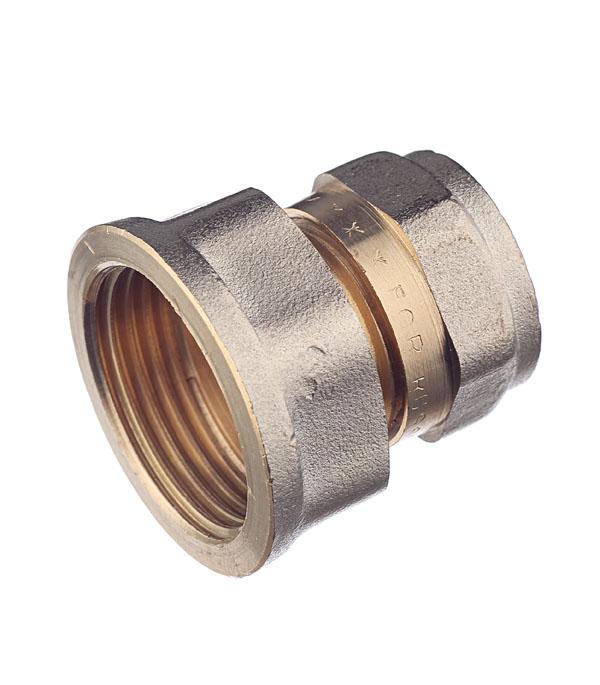 Соединитель прямой 16 обж(ц) х 3/4 внутр(г) евроконус 16 обж ц х 3 4 внутр г для металлопластиковых труб