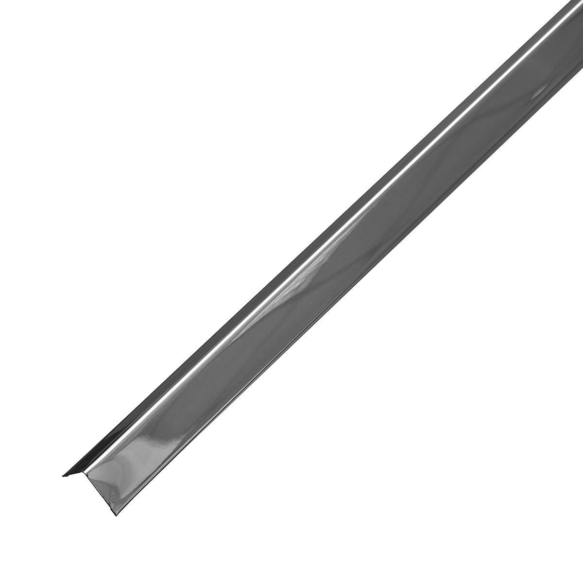 Профиль угловой универсальный PL 19х24х3000 мм суперхром