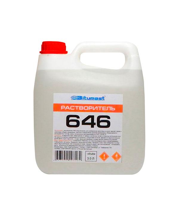 Растворитель 646 Bitumast ГОСТ 2,4 кг/2,8 л растворитель марки р 4 иркутск