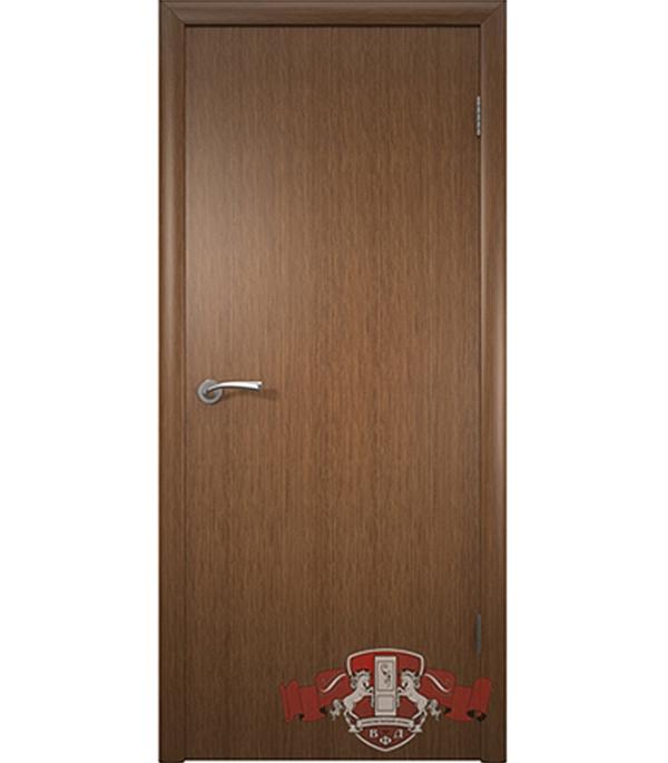 Дверное полотно Соло шпонированное  орех ПГ 600х2000 мм