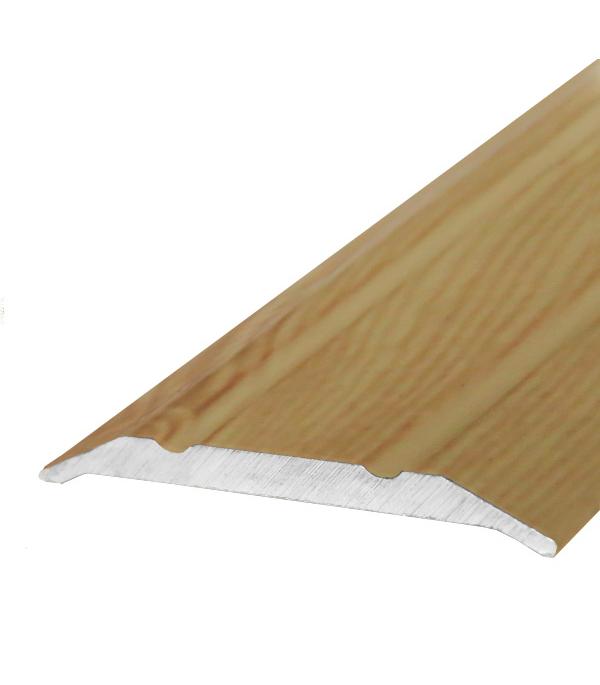 порог алюм угол 24х18мм 1 8м декор сосна серебристая д3 Порог стыкоперекрывающий 25х1800 мм Сосна