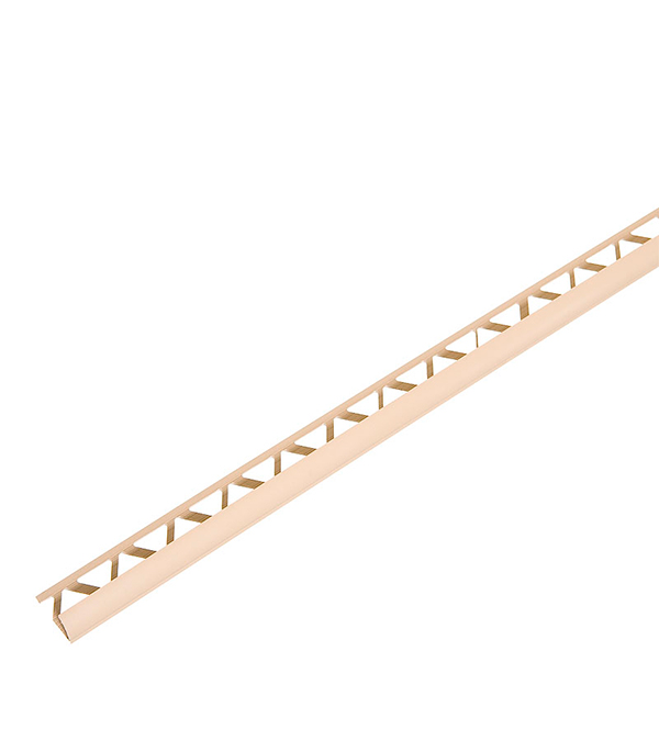 Уголок для кафельной плитки наружный 9 мм 2,5м бежевый