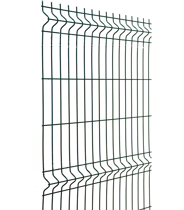 Сетка (секция)  заборная с полим.покр.2,03х2,5 м яч.50х200 мм зеленая RAL 6005
