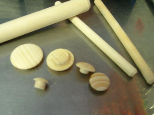 Заглушка деревянная круглая ОСИНА, диаметр 12 мм (10 шт)