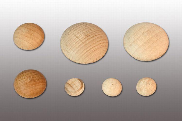 Заглушка деревянная круглая СОСНА, диаметр 25 мм (10 шт)