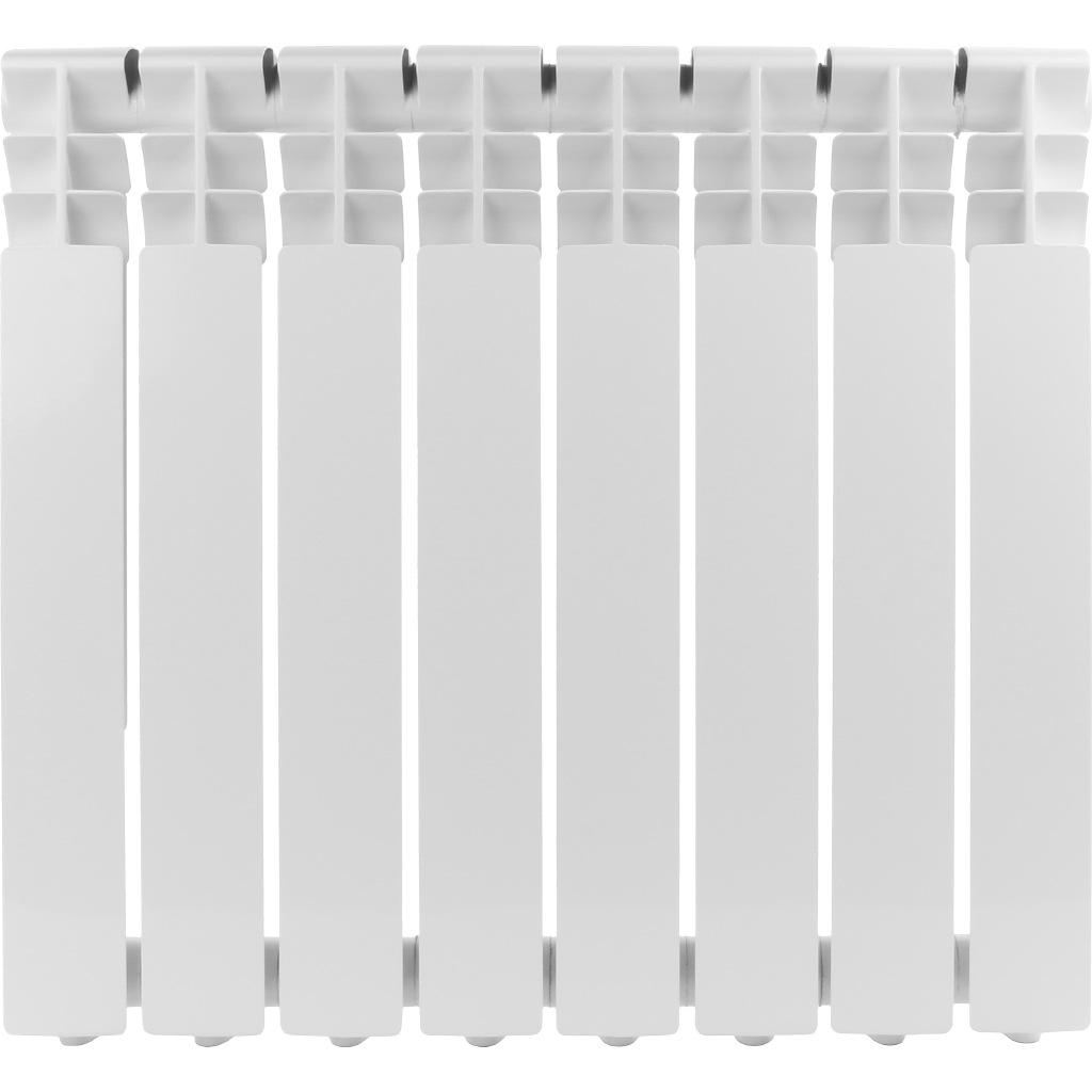 Радиатор алюминиевый 1 Rommer Optima 500, 8 секций радиатор отопления rommer optima bm 500 биметаллический 8 секций