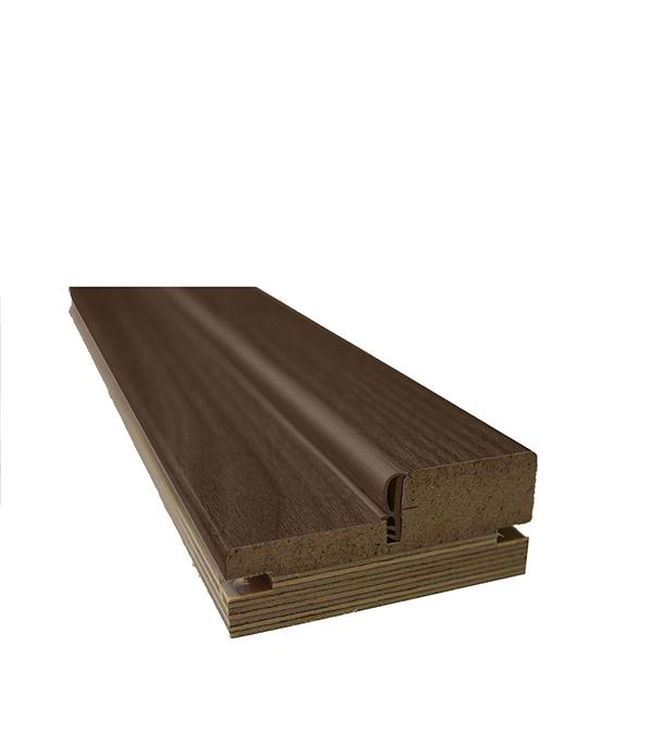 Коробка дверная экошпон Шоколадный орех 70х2070х28 мм с уплотнителем и пазом под добор