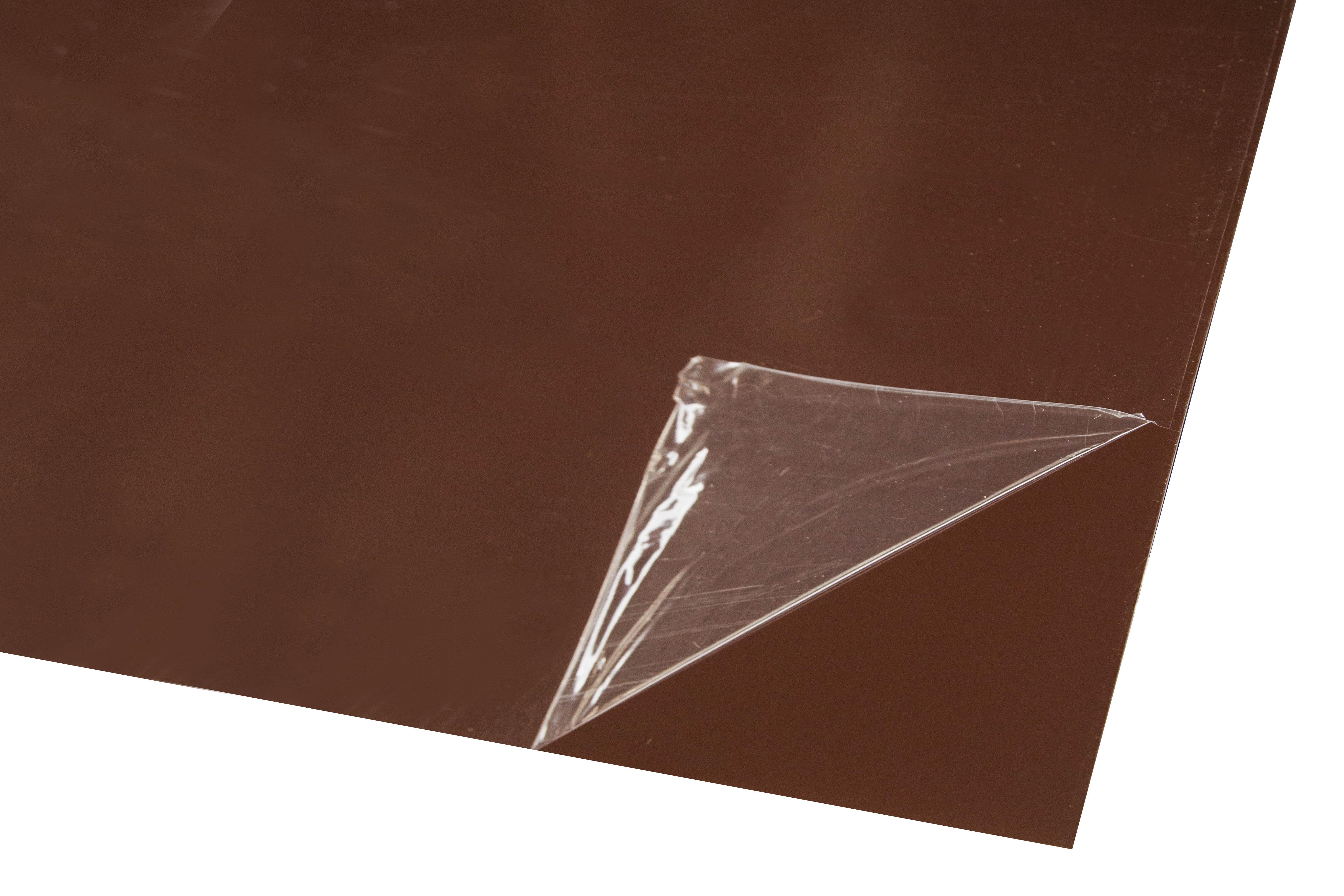 Лист оцинкованный 1250х2000х0,37 мм коричневый RAL 8017