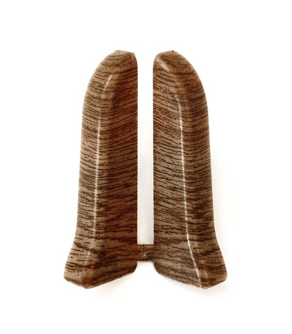 Заглушки торцевые (левая+правая) Дуб коньячный 67 мм