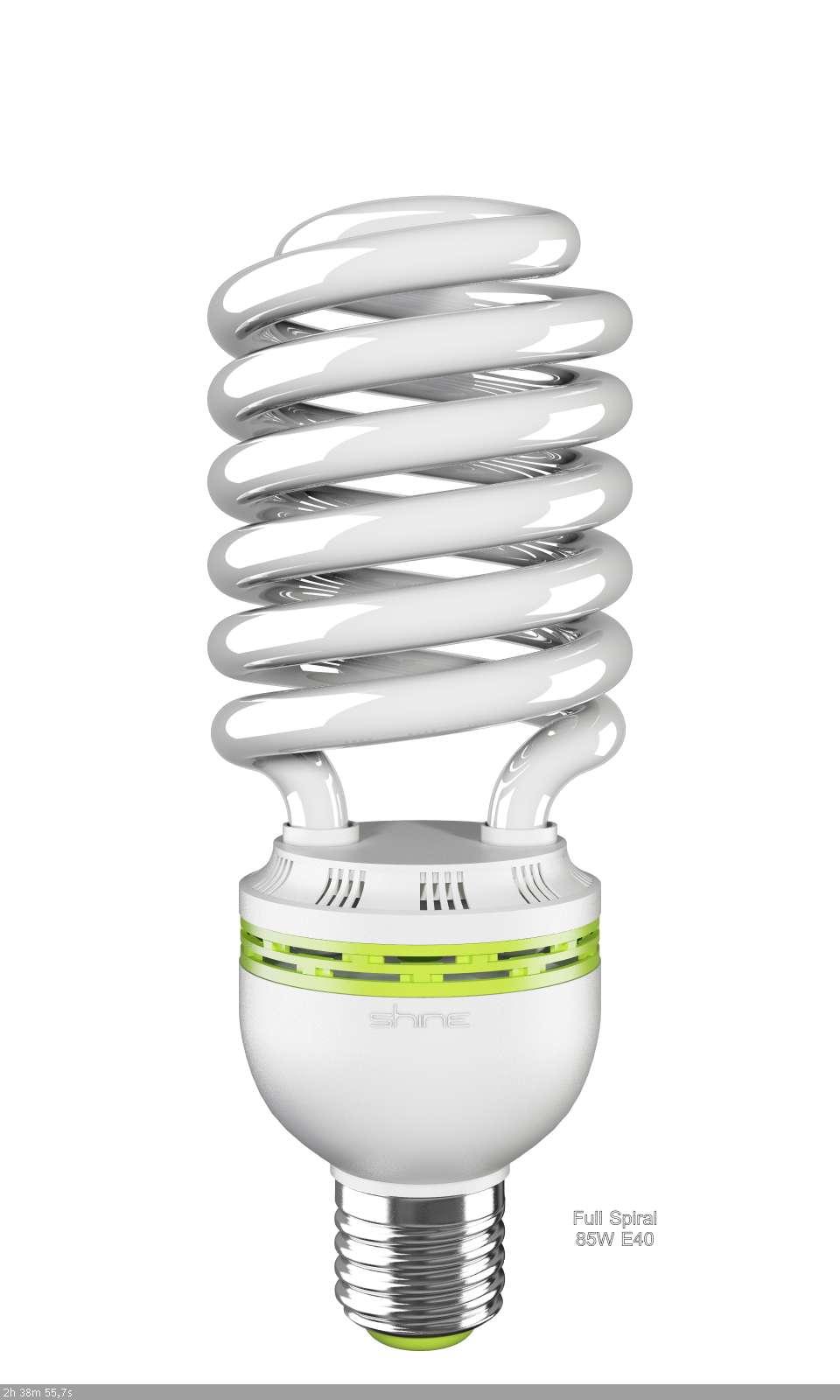 ььЛампа энергосберегающая E40,  85W, Gigalite, 6500K (дневной белый свет), Shine
