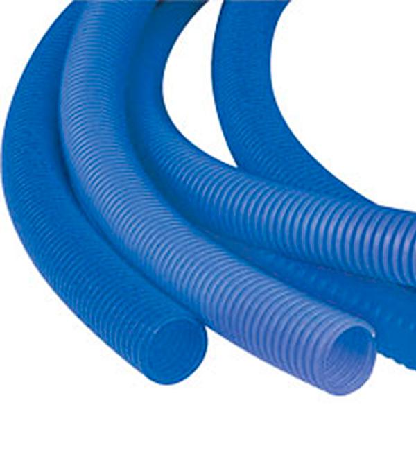 Труба гофрированная 32 мм для металлопластиковых труб d20 мм синяя (бухта 50 м)