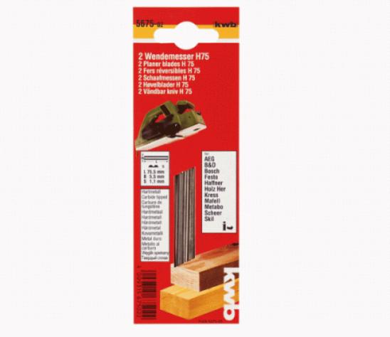 Нож для рубанка 82х5,5 мм, твердосплавный, 2 шт KWB Стандарт