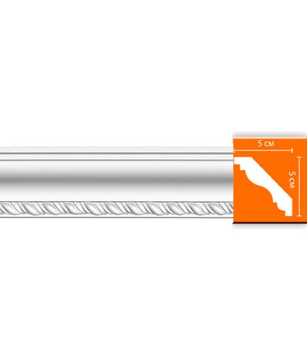 Плинтус из полиуретана 50х50х2400 мм Decomaster плинтус молдинг из полиуретана 16х40х2400 мм decomaster