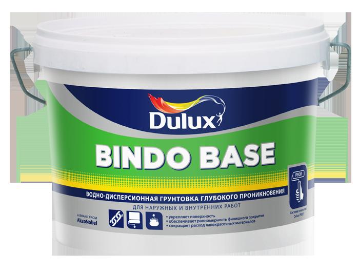 Грунт Bindo Base Dulux водно-дисперсионный 2.5 л шпатлевка финишная maxi dulux 10 л