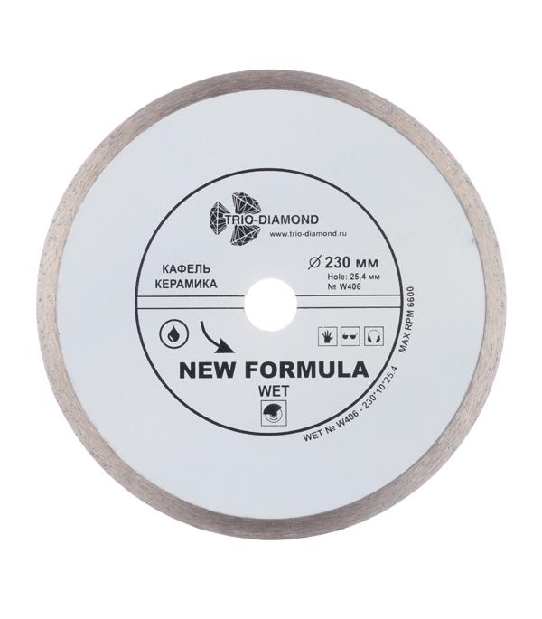 Диск алмазный сплошной по керамике 230х22.2 мм диск алмазный diam 150х22 2мм master турбо 000160