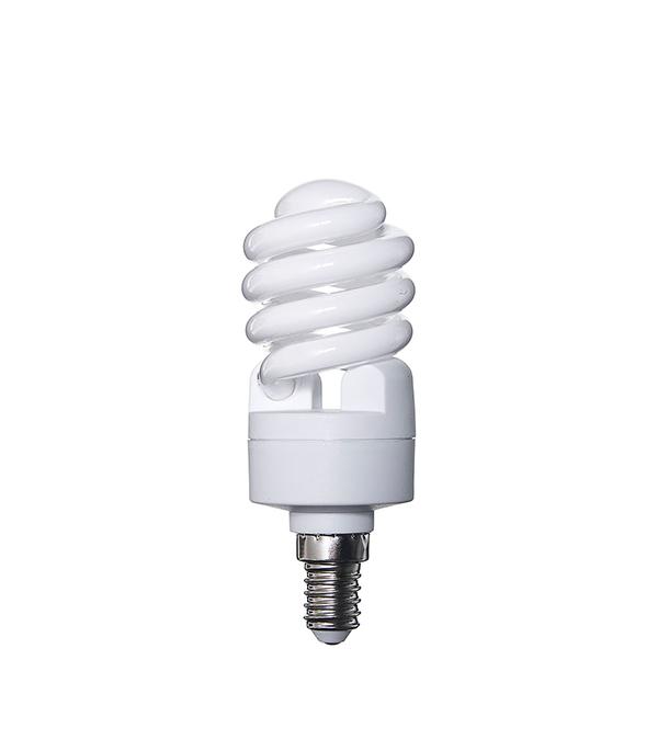 Лампа энергосберегающая E14, 15W, MiniTwist, 4000К (холодный свет), Osram