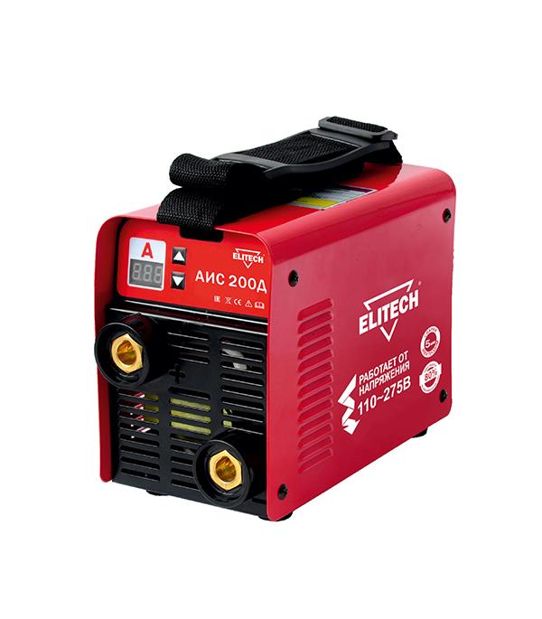 Сварочный аппарат (инвертор) ELITECH АИС 200Д, 275В, 200А, ПВ 80%, до 5,0 мм сварочный инвертор elitech ис 160н