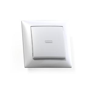 Выключатель Селена с/у 1-кл. с подсв. белый, 250В 10А
