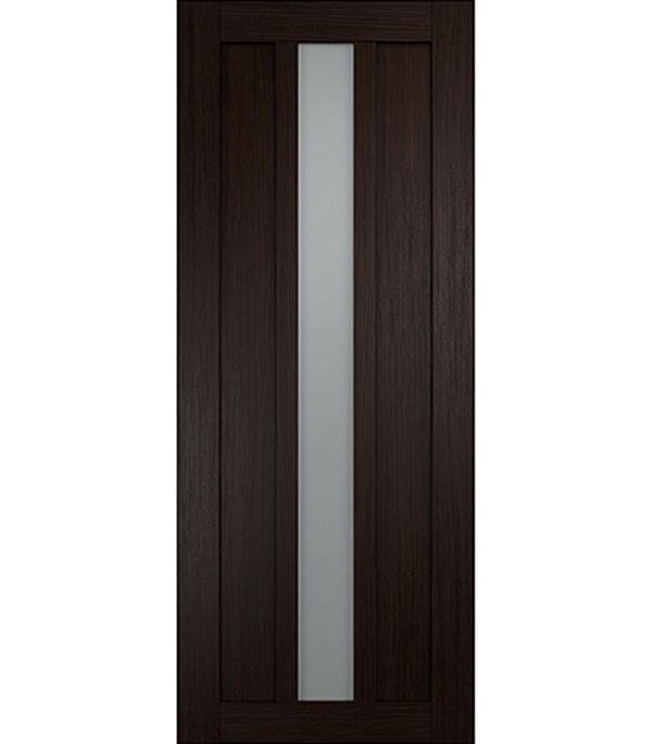 Дверное полотно экошпон Интери 3-1 Венге со стеклом 700х2000 мм без притвора дверная ручка банан где в санкт петербурге