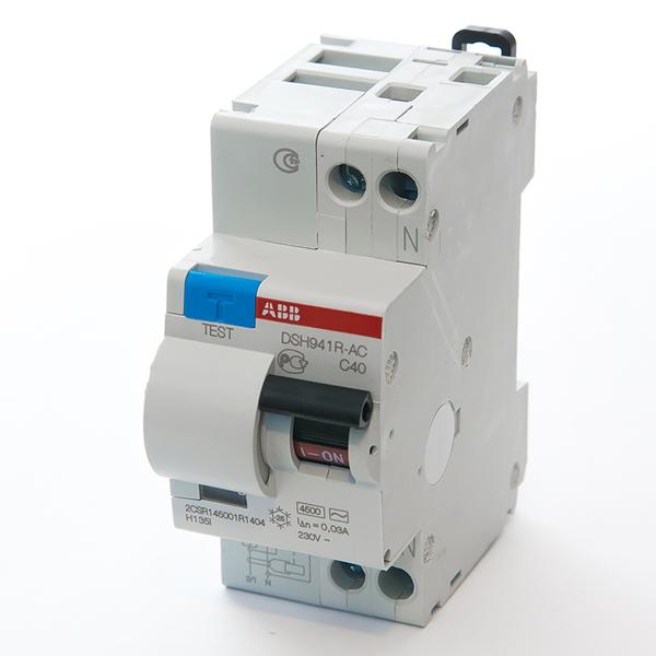 Автомат дифференциальный 1P+N, 40А, тип C, 30мА, 4.5kA, ABB, DSH941R