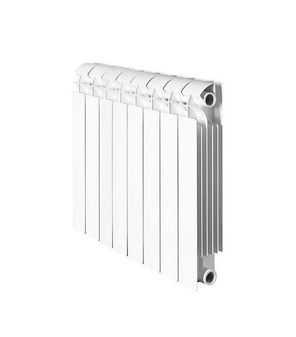 Радиатор биметаллический 1 GLOBAL Style Plus 500,  8 секций радиатор отопления global алюминиевые vox r 500 12 секций