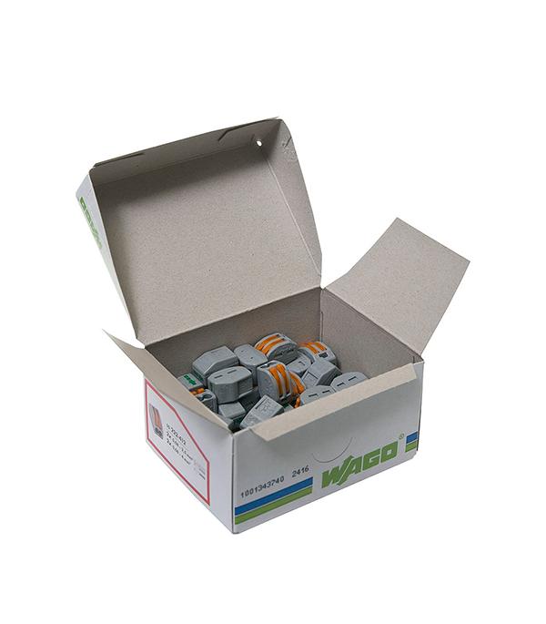 Зажим клемма Wago на 2 провода с рычажком 0.08-2.5 мм.кв (50 шт)