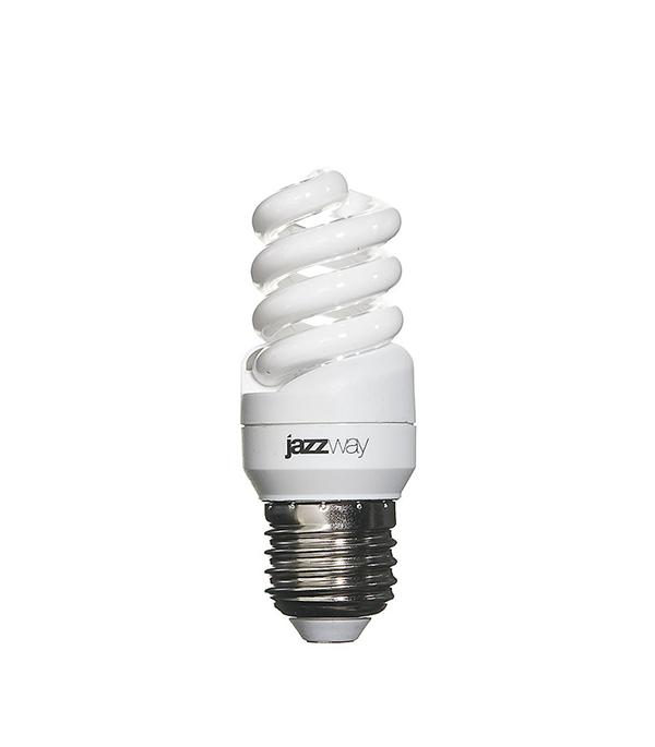 Лампа энергосберегающая E27, 15W, Spiral , 2700K (теплый свет), Jazzway