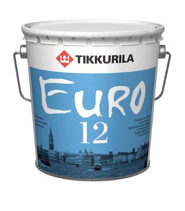 Краска в/д Euro 12 основа А полуматовая  Тиккурила 9 л