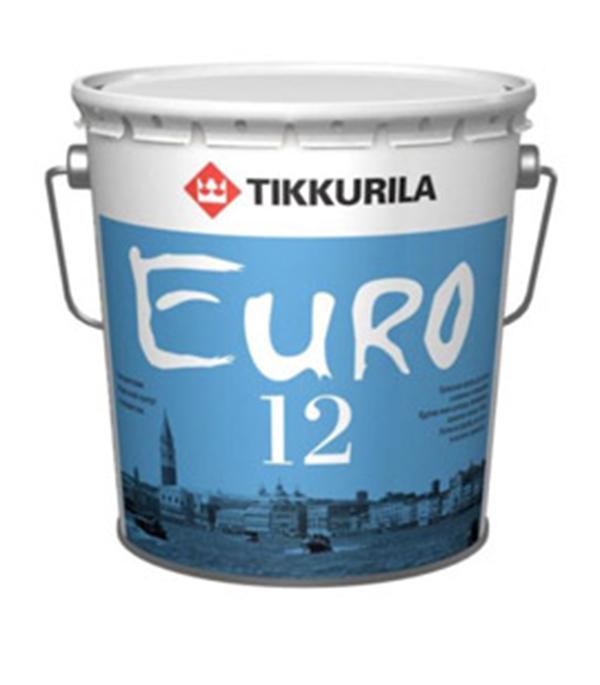 Краска в/д Euro 12 основа А полуматовая  Тиккурила 2,7 л