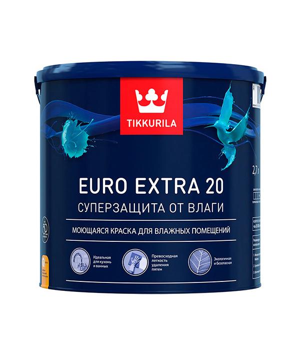 Краска в/д Euro Extra 20 основа А полуматовая Тиккурила 2,7 л