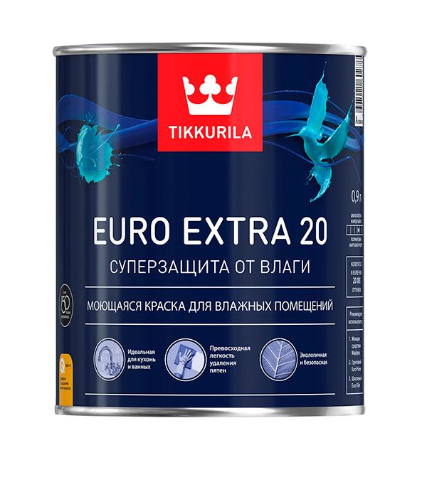 Краска в/д Euro Extra 20 основа А полуматовая Тиккурила 0,9 л