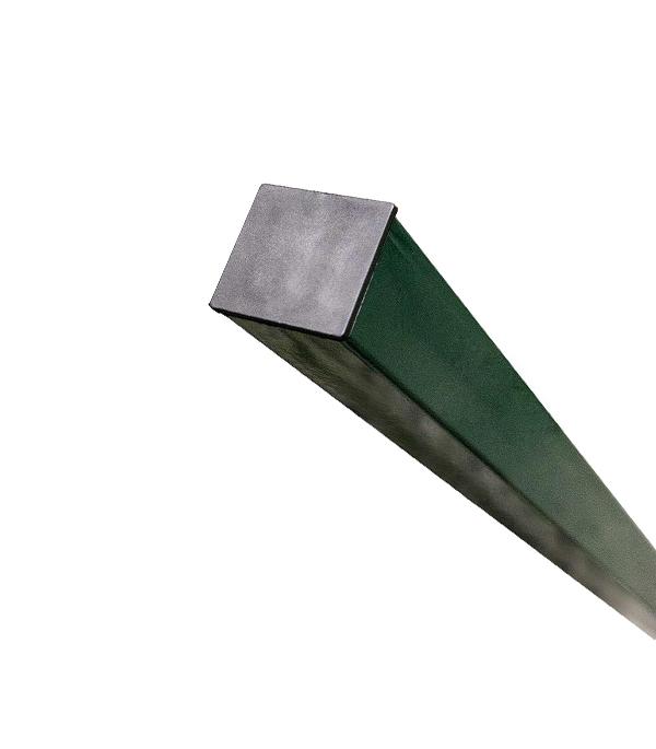 Столб заборный 62х55 мм  3 м зеленый RAL 6005, 4 отверстия