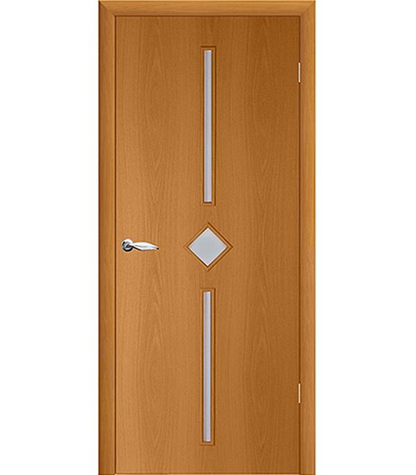 Дверное полотно ламинированное Кристалл Миланский орех гладкое 700х2000 мм со стеклом