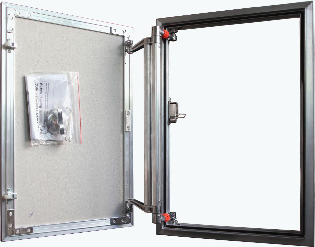 Люк ревизионный 200х300 мм под плитку алюминиевый EuroFORMAT-R Практика