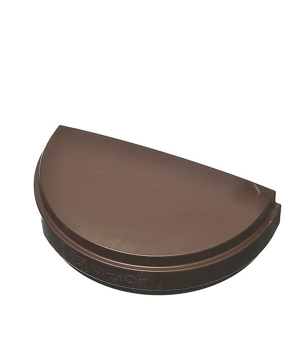 Заглушка желоба Vinyl-On пластиковая универсальная коричневая (кофе) желоб водосточный vinyl on пластиковый 3 м коричневый кофе
